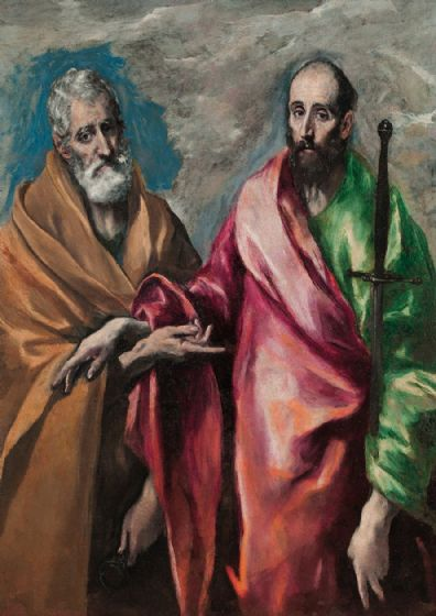 Greco, El (Domenico Theotocopuli): Saint Peter and Saint Paul. Fine Art Print/Poster. Sizes: A4/A3/A2/A1 (002040)
